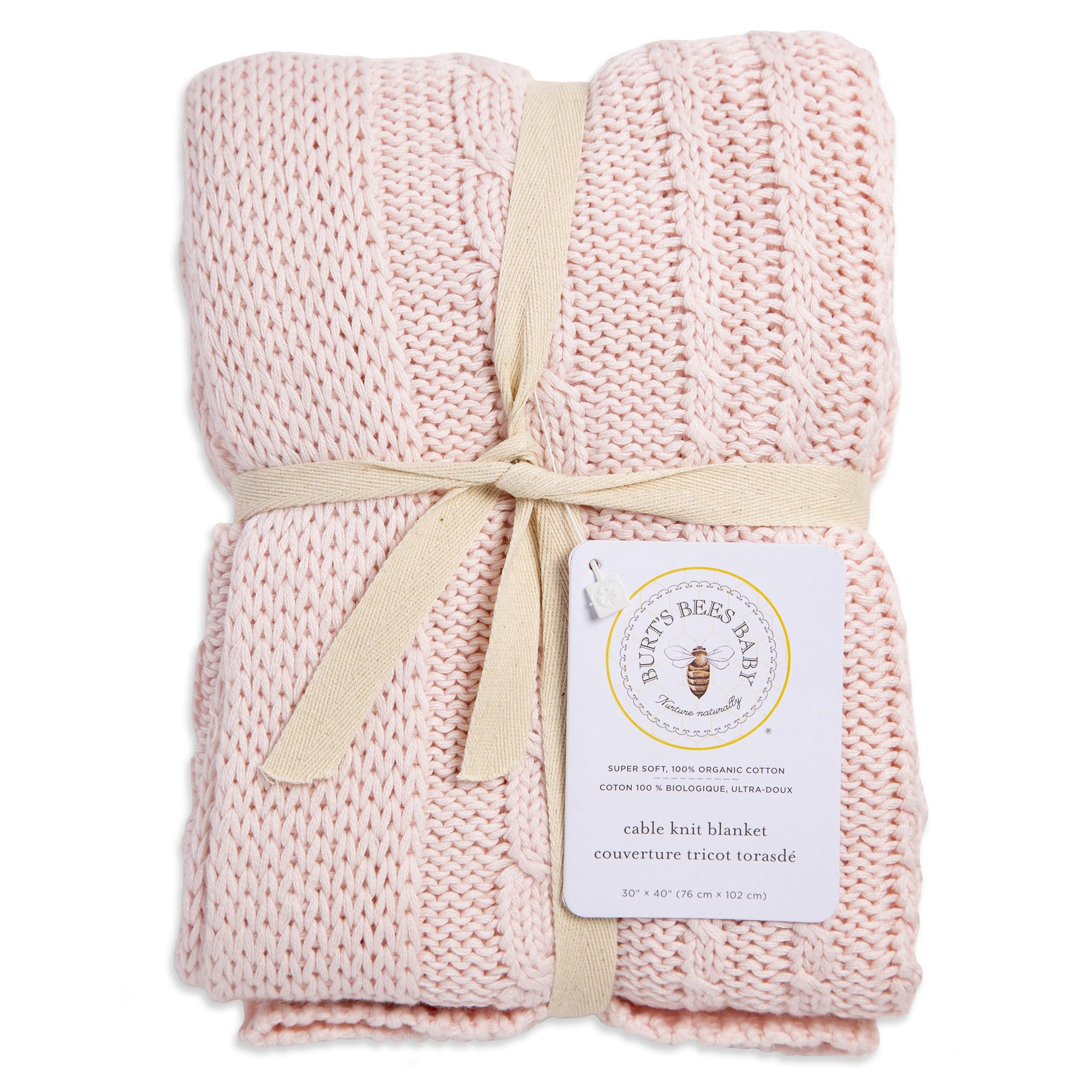 Cable Knit Sweater Organic Baby Blanket