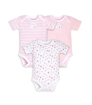 Organic Cotton 3 Pack Tossed Tulip Bodysuits Blossom 18 Months