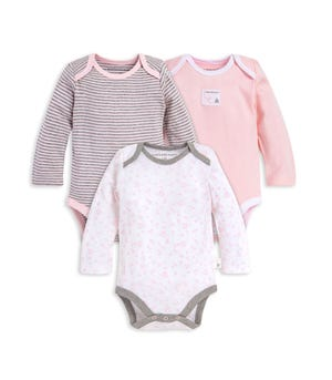 Dusty Dandelions Organic Baby 3 Pack Long Sleeve Bodysuits