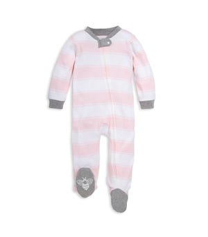 Rugby Stripe Organic Baby Sleep & Play Pajamas Blossom 0-3 Months