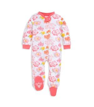 Rose Floral Watercolor Organic Baby Sleep & Play Pajamas