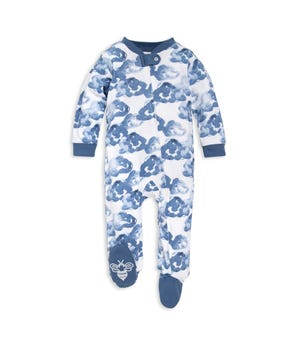 Moonlight Clouds Organic Baby Sleep & Play Pajamas