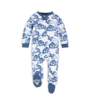 Moonlight Clouds Organic Baby Sleep & Play Pajamas Blue Creek 0-3 Months