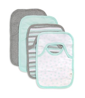 Sixties Stripe Organic Baby Pull On 4 Pack Bibs