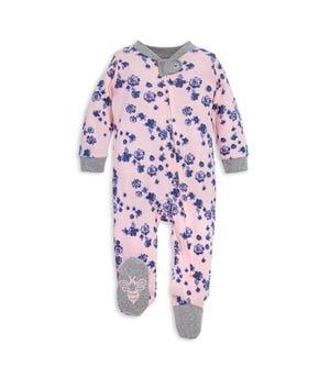 Indigo Floral Print Organic Baby Sleep & Play Pajamas
