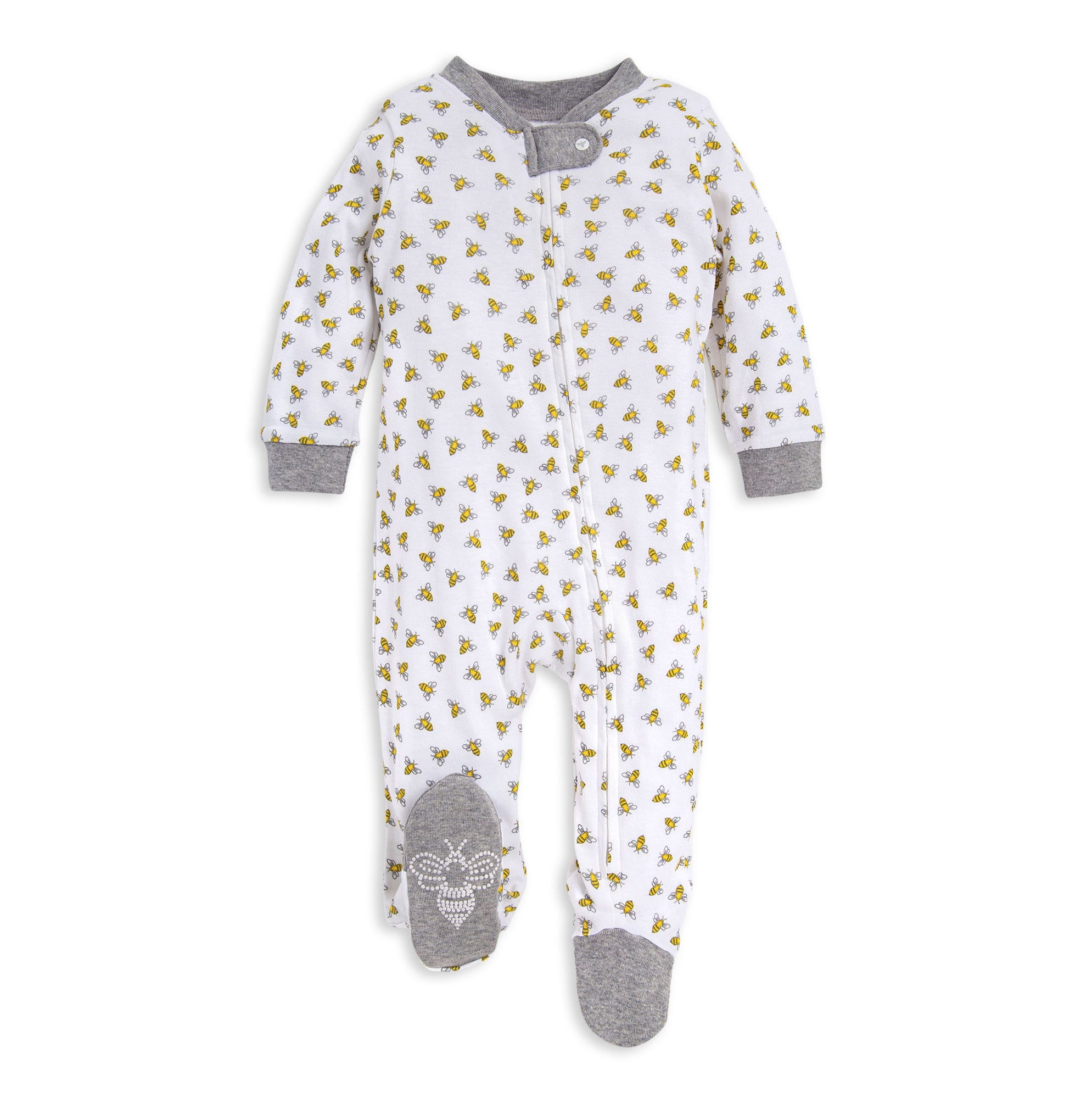 Baby Sleeper Pajamas Zip Footed Boy and Girl Organic Cotton 0,3,6,9,12 Month