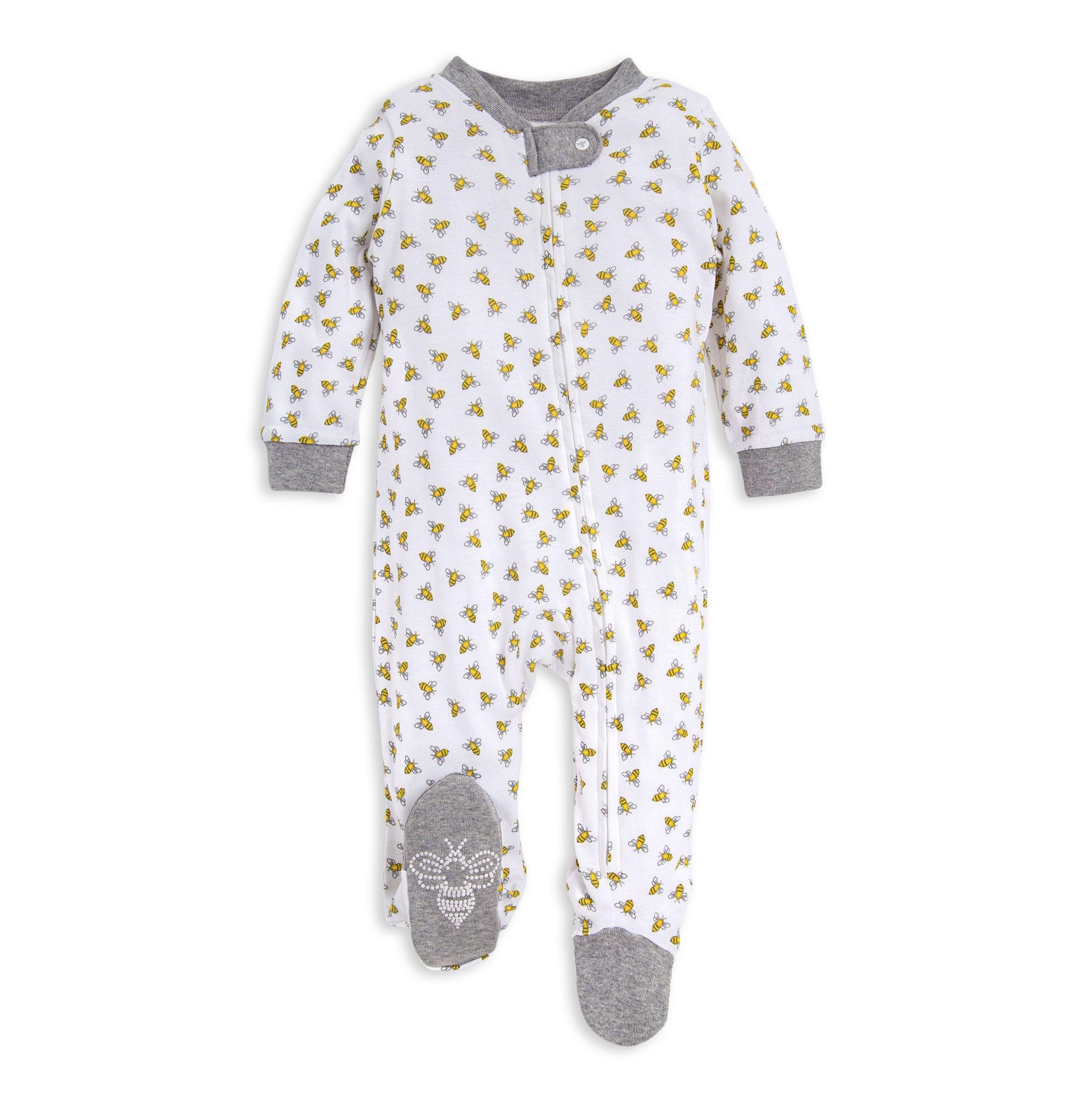 HonestBaby Baby Organic Cotton Snug-fit Footed Pajamas