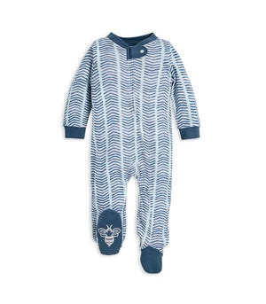 Watercolor Chevron Organic Baby Sleep & Play Pajamas