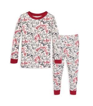 Holiday Carols Organic Baby Pajamas