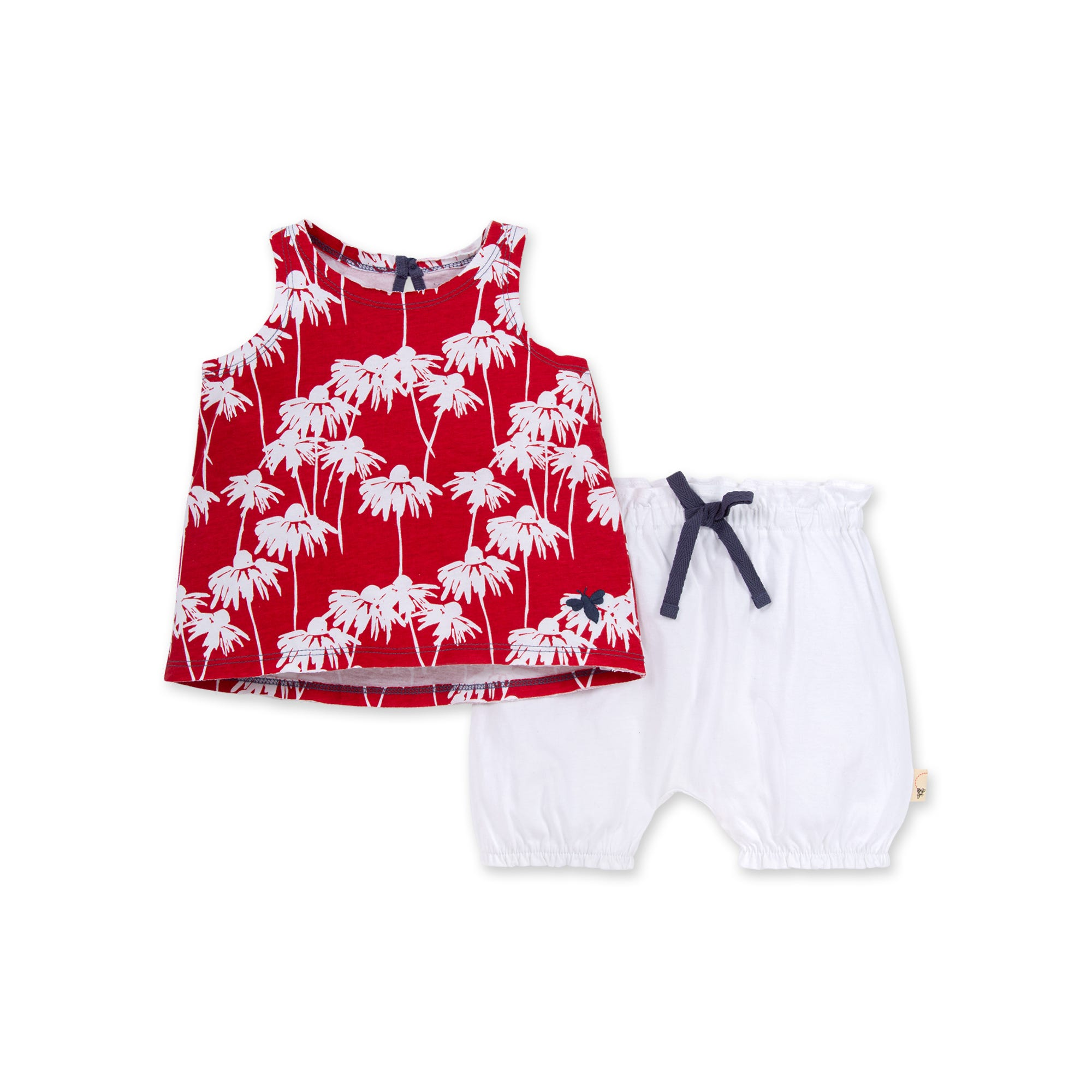 Burts Bees Baby Tank Tops 100/% Organic Cotton Girls Short Sleeve and Sleeveless Tees