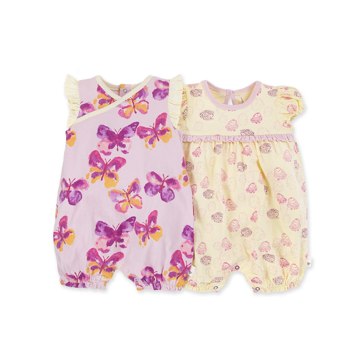 Contact Baby 3 Pc Set Girls Love Butterflies PJ Bodysuit and Bib Pink Butterfly