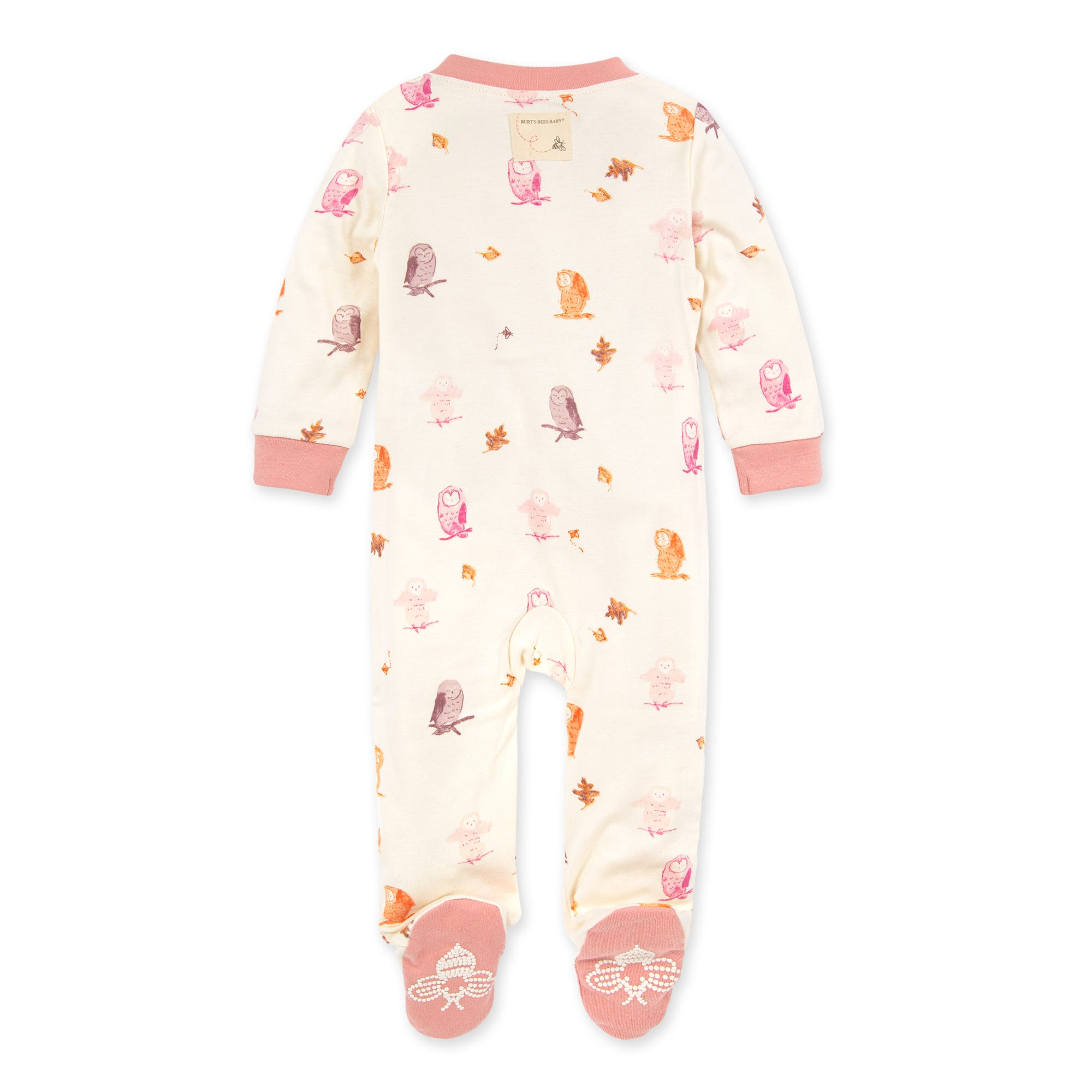 Burts Bees Baby Baby Sleep /& Play Organic Pajamas Botanical Gardens NB-9M One-Piece Zip Up Footed PJ Jumpsuit 3-6 Months