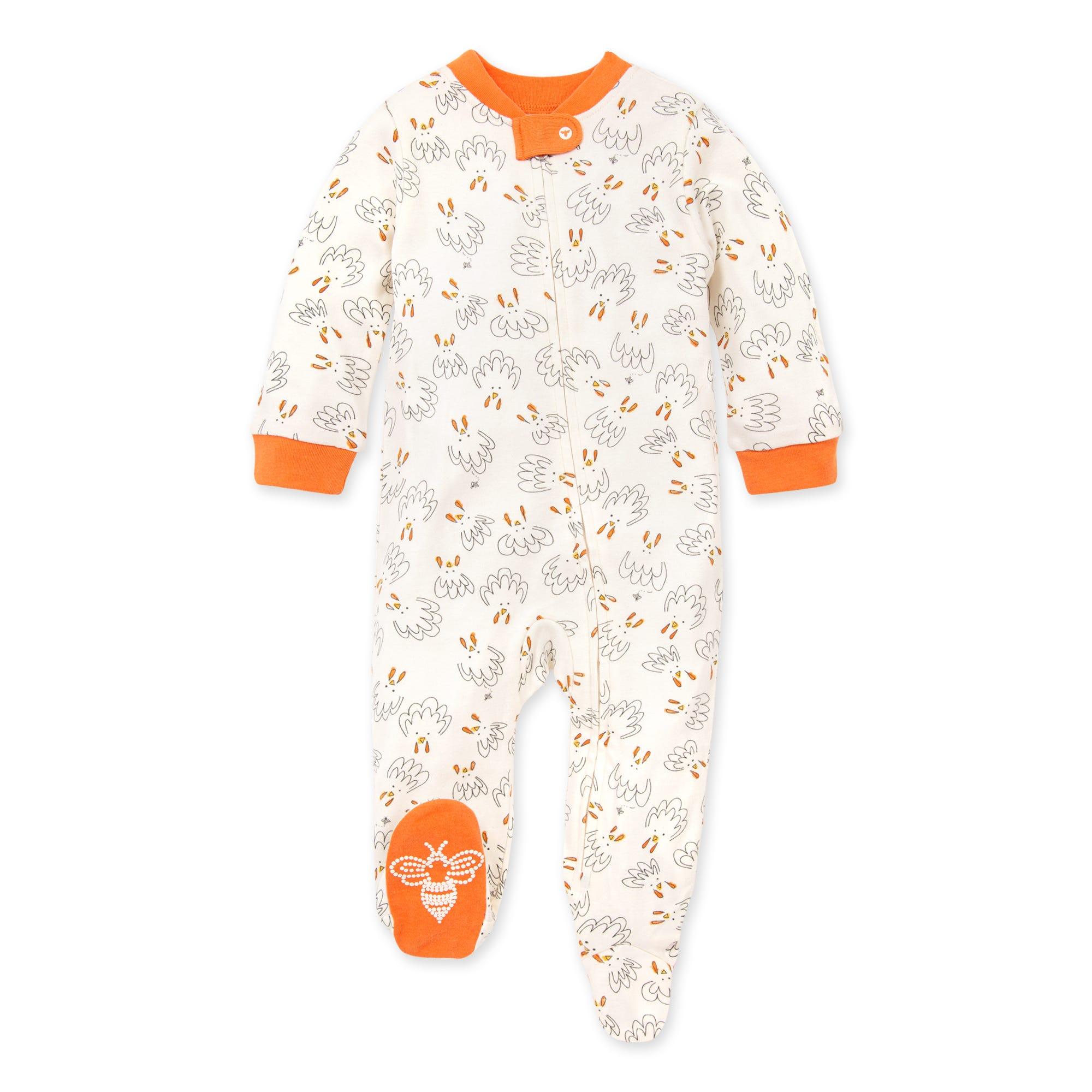 Burts Bees Baby Baby Sleep /& Play Organic Pajamas Botanical Gardens NB-9M One-Piece Zip Up Footed PJ Jumpsuit 3-6 Months