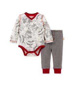 Star Bright Organic Baby Bodysuit & Pant Set Eggshell 0-3 Months