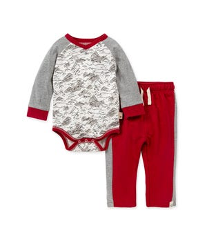 Rocky Mountains Organic Baby Bodysuit & French Terry Pant Set
