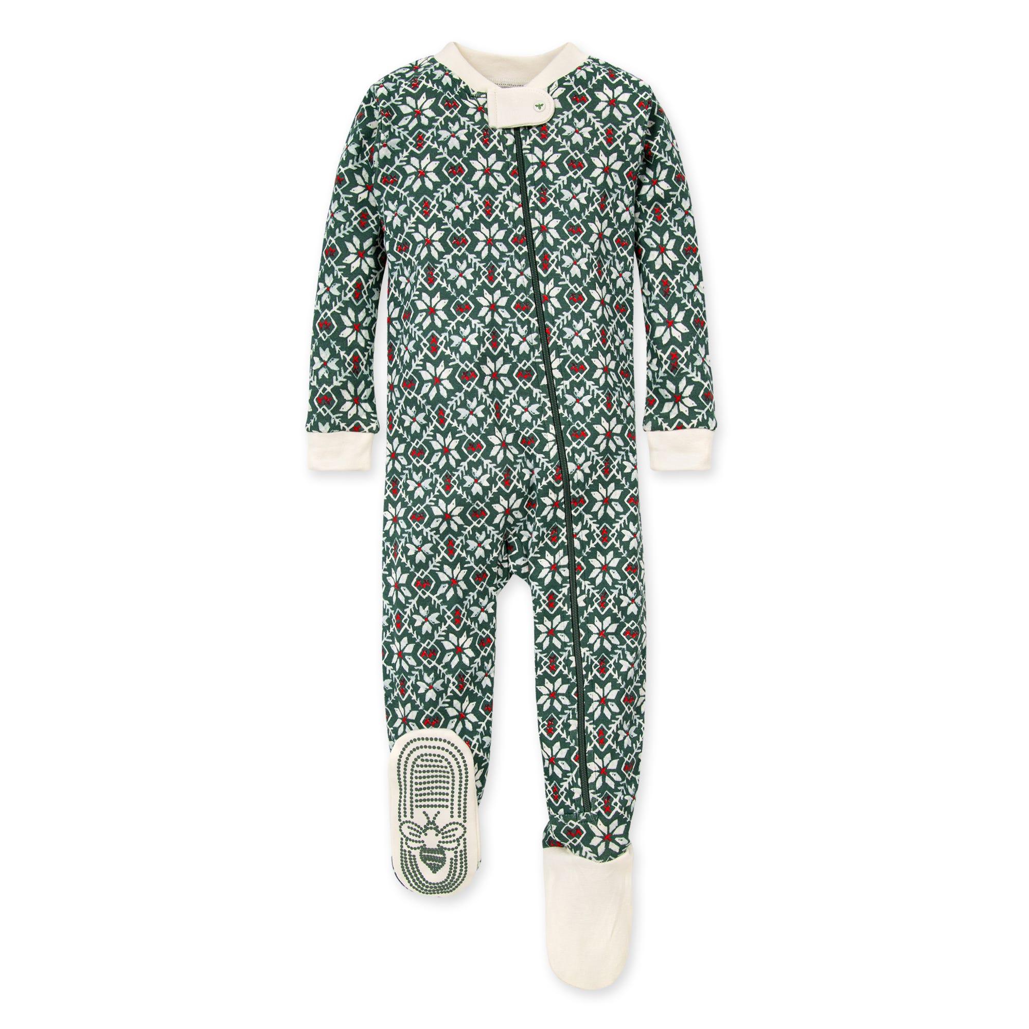 Family Pajamas Unisex Baby Boys or Girls Winter Fairisle One-Piece PJ Gray