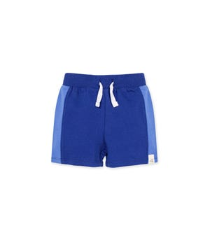 French Terry Organic Baby Colorblocked Shorts Macaw 12 Months