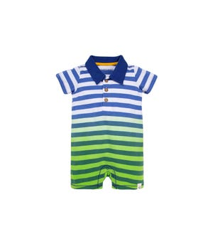 Dip Dye Stripes Organic Baby Polo Romper