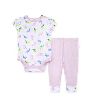 Pretty Parakeet Organic Baby Bodysuit & Pant Set