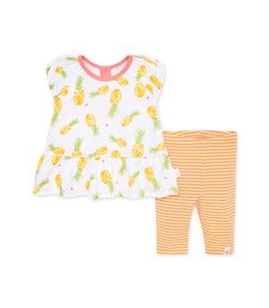 Maui Gold Organic Baby Tunic & Capri Legging Set