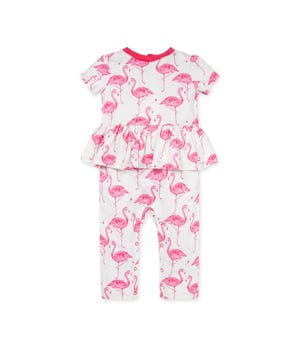 Flamingo Friends Organic Baby Jumpsuit