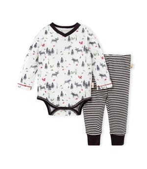 Northern Elk Organic Baby Bodysuit & Pant Set