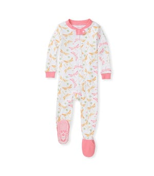 Dragonfly Life  Organic Baby Zip Front Snug Fit Footed Pajamas