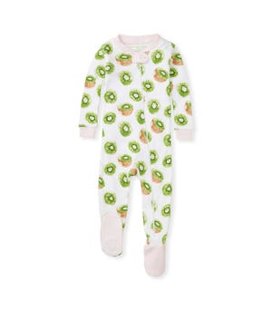 Kiwi Organic Baby Zip Front Snug Fit Footed Pajamas