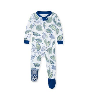 Jungle Canopy Organic Baby Zip Front Snug Fit Footed Pajamas