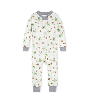 Coco-Nuts Organic Baby Zip Front Snug Fit Footless Pajama Heather Grey 24 Months