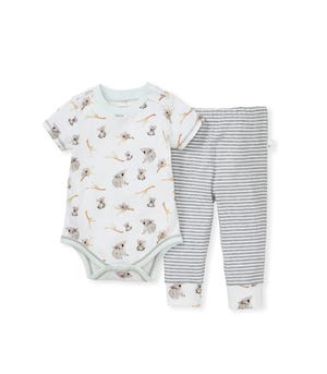 Perfectly Koalified Organic Baby Koala Bodysuit & Pant Set