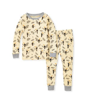Toucan Jungle Snug Fit Organic Baby Pajamas Heather Grey 12 Months