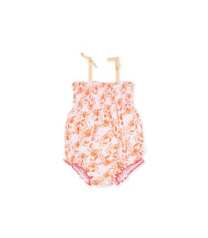 Don't Be Crabby Organic Baby Bubble Bodysuit Cantaloupe 24 Months