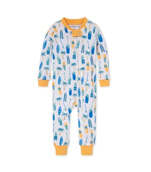Hang Ten Organic Baby Zip Front Snug Fit Footless Pajama Cantaloupe 12 Months