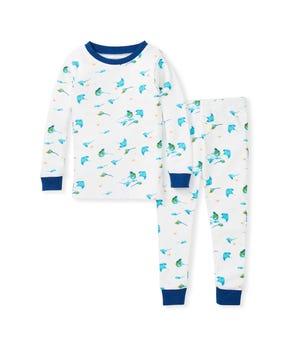 Stingray Snug Fit Organic Baby Pajamas Macaw 18 Months