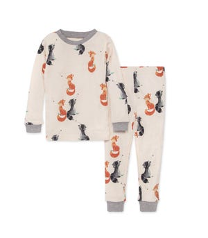 Catching Bees Snug Fit Organic Baby Pajamas Heather Grey 12 Months
