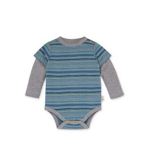 Geometric Stripes Organic Baby 2Fer Bodysuit