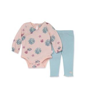 Succulent Garden Organic Baby Bodysuit & Pant Set
