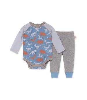 Ptero-bly Cute Organic Baby Bodysuit & Pant Set