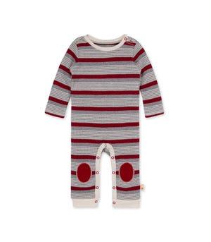Thermal Long Road Stripe Organic Baby Jumpsuit
