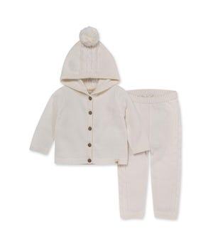 Sweater Knit Organic Baby Cardigan and Pant Set