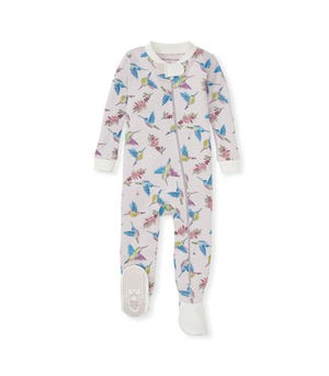 Early Bird Organic Baby Zip Front Snug Fit Footed Pajamas