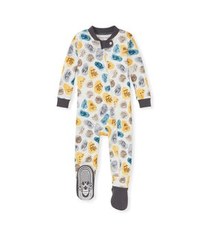 I Dig It Organic Organic Baby Zip Front Snug Fit Footed Pajamas
