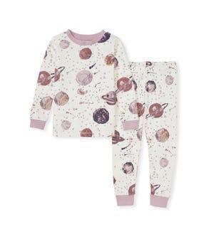 Starry Galaxy Organic Baby Snug Fit Pajamas Blush Quartz 12 Months