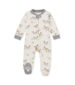 Splashing Ducks Organic Baby Sleep & Play Heather Grey 0-3 Months