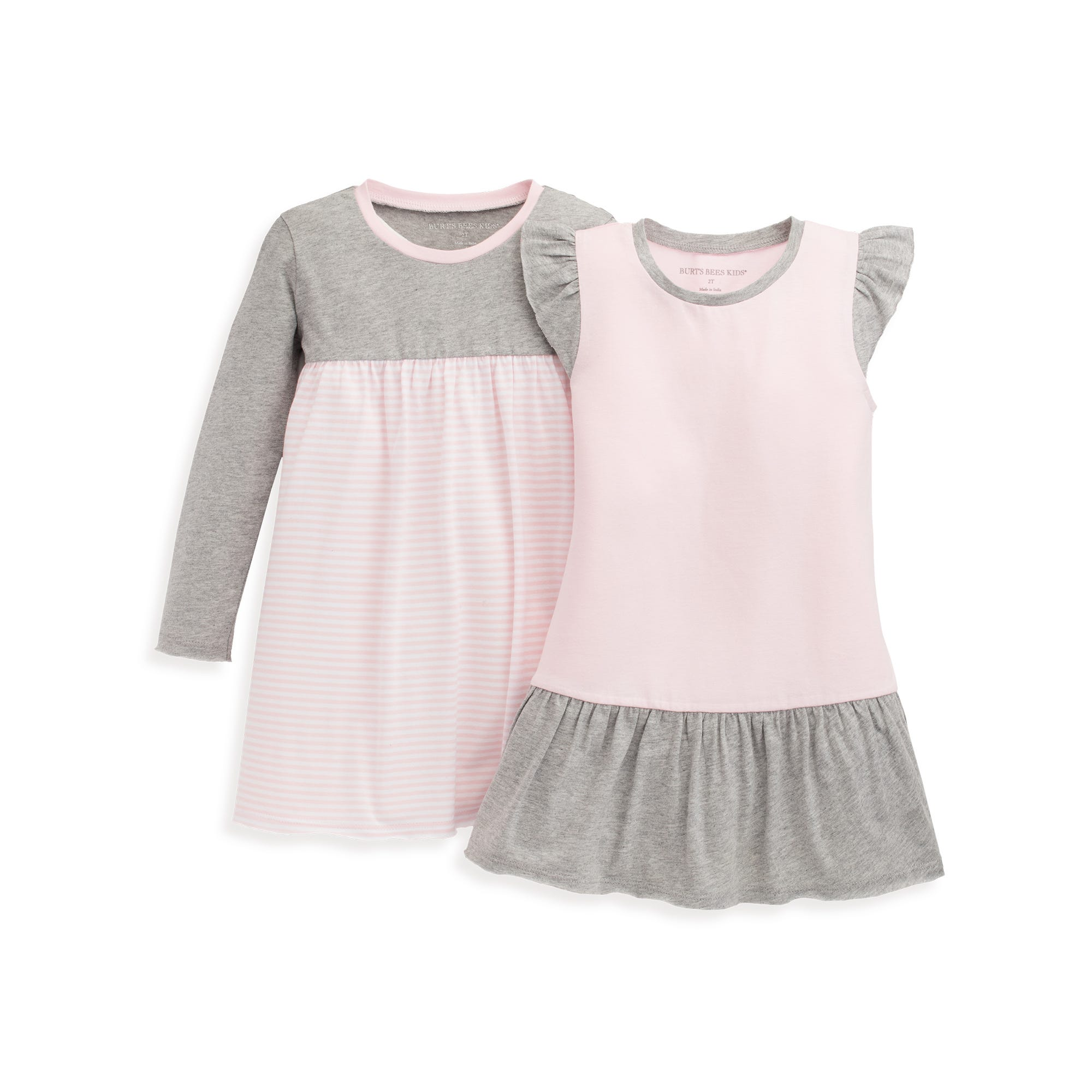 Infant /& Toddler 100/% Organic Cotton Short /& Long-Sleeve Baby Girls Dress Burts Bees Baby