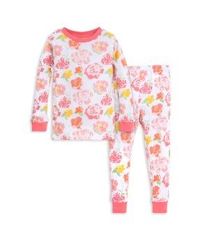 Rosy Spring Floral Organic Toddler Pajama Set Pink Poppy 2 Toddler
