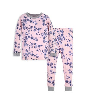 Indigo Flowers Organic Toddler Pajama Set