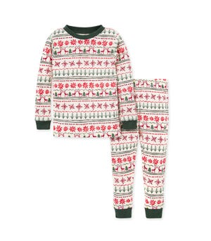 Blizzard Fair Isle Organic Baby Holiday Family Pajamas