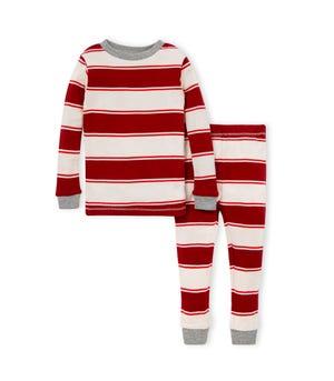 Rugby Peace Stripe Organic Baby Holiday Family Pajamas